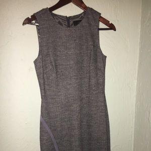 J Crew Dark grey herringbone office dress